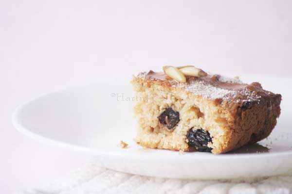 light vegan fruit and nut cake