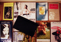 a few favorites (Le Portillon) Tags: favorite moleskine journal books literature vogue brautigan plath