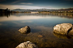 (Tuan__) Tags: california longexposure lake water rock day sandimas 4minutes