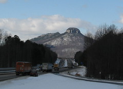 Pilot Mountain after the blizzard