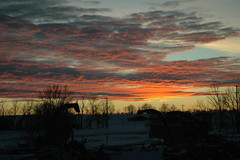 North Dakota winter sunset (Jer Baer) Tags: pink winter sunset snow cold color nature beauty clouds skyscape outdoors purple northdakota starkcounty