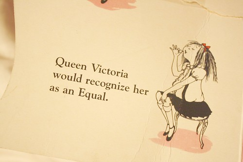 Queen Victoria would recognize her as an equal