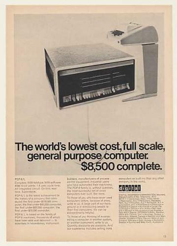 La computadora de uso general más barata del mundo, 8500$ de la época (1968)