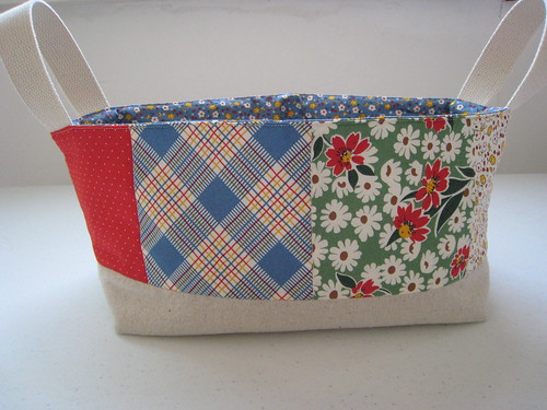 Large fabric basket (front) , originally uploaded by chick chick ...