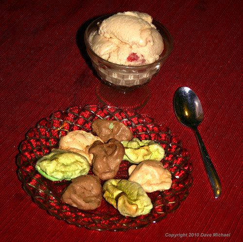 Home Made Ice Cream And Cookies