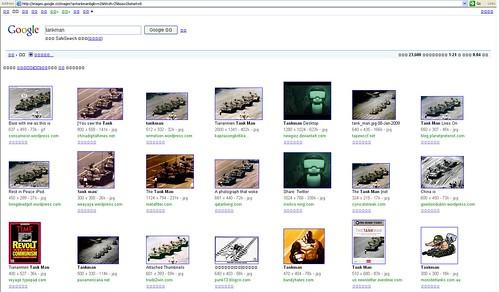 google china censorship tankman