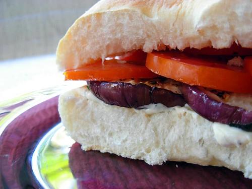 Eggplant Tomato Sandwiches