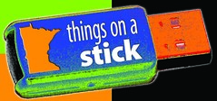 things on a stick logo
