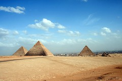 Ancient history (eMMa_bOOm) Tags: vacation sky holland travelling nature dutch ancient holidays colours desert natural egypt tourists graves cairo pyramids miracles giza cheops tombes pharaos chefren mykerinos 4500yearsold thedailypost pharaosgraves