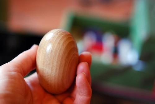 mending wooden egg