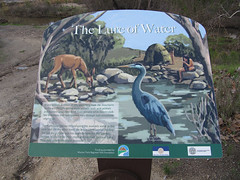 The Lure of Water Signage (Patty Mooney) Tags: california water fun picnic sandiego hiking hike romance adventure waterfalls biking hikers southerncalifornia mountainbiking enjoyment walkingthedog missiontrailsregionalpark aftertherains sandiegoriver