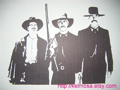 tombstone 003 (Large) (Kelmosa) Tags: blackandwhite art silhouette cowboys drawing tombstone marker celebrities sharpie sheriff elliott kilmer wyattearp earp kurtrussell docholliday lawmen
