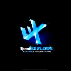Explode (dukk from D2works) Tags: logo logotype bluelogo lightlogo explodelogo