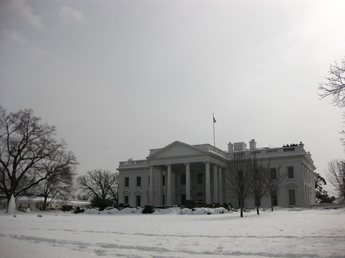 White House in Snow