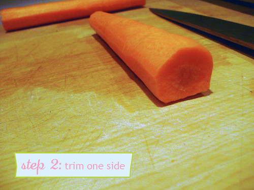 How to Chop Carrots - step 2