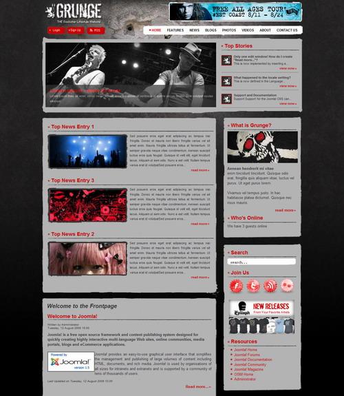 Grunge Theme | For Joomla 1.5.x