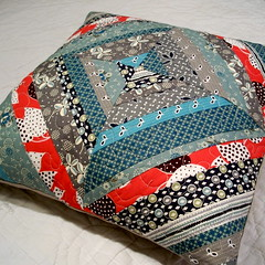 String Pillow (Sewing Geek) Tags: pillow patchwork fmf hopevalley fleamarketfancy stringquilt