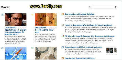 Cover View in Feedly