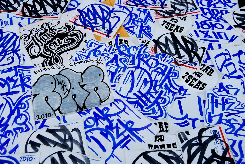 ROAR 7SEAS Sticker Graffiti Packs.