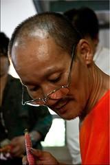 สักเป็นลาย (Ursula in Aus) Tags: tattoo thailand yantra tattooing waikhru nakhonpathom นครปฐม ประเทศไทย sakyant tattoofestival รอยสัก watbangphra nakhonchaisi earthasia nakhonchaisri totallythailand วัดหลวงพ่อเปิ่น ครู รูปสัก วัดบางพระ ลายสัก สักยันต