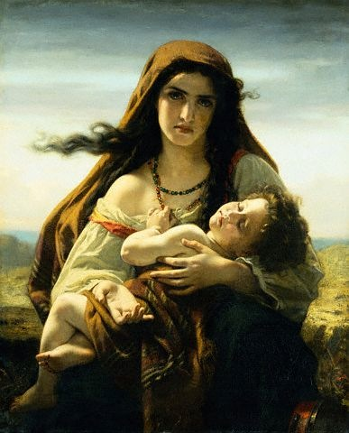 Hugues Merle (French, 1823-1881) The Widow (Date Unknown) Oil on Canvas. Private Collection