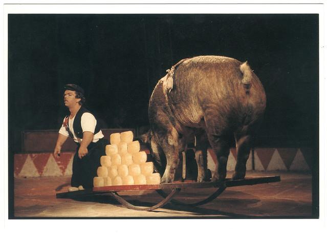 Milko (Cirque ACHILLE ZAVATTA. 1990)_LAventure Carto (Le Grand Kervi Circus; 90-439). Photo Yvon Kervinio