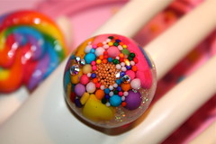 Candy Jewel-lisciousness Ring- Candy and Cupcake Sprinkles Resin (athinalabella1) Tags: pink paris cute glass yellow cake