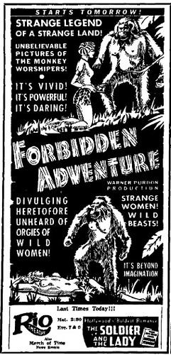 FORBIDDEN ADVENTURE print ad 4-20-37