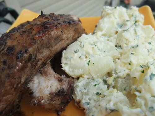 Sweet Tea Glazed Ribs and Lemony Potato Salad