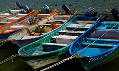 They Come in All Colors (Ken Yuel) Tags: mexico nayarit pacificocean fishnets anchors woodenboats puntademita colorfulboats digitalagent mexicofishingboats kenyuel