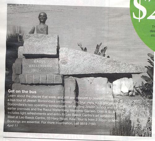 Media piece- Melbourne Weekly Magazine 7-13 April 2010.