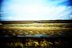 tides out (lomoD.xx) Tags: sky beach water clouds landscape seaside lomo lca xpro crossprocessed xprocess sand tide norfolk wells lomolca puddles jessops100asaslidefilm agfaprecisa deserted 100asa eastanglia agfaprecisa100 lomodxx лomo precisa100 wellsnexttosea emptybeaches lomodxxwall