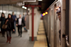 Late Night Shift (pamhule) Tags: nyc newyorkcity newyork canon subway metro 85mm jens april mta subwaystop newyorksubway newyorkcityatnight  wallstreetsubwaystop  5dmarkii 5dii mtaemployee beyondbokeh pamhule jensschott jensschottknudsen wallstreetstop