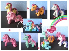 Poppy's little ponies (The Whole Cake and Caboodle ( lisa )) Tags: newzealand sandra 7 pony handpainted poppy whangarei mlp mylittlepony fondant caboodle scootaloo pinkiepie rainbowdash sweetiebelle thewholecakeandcaboodle cherrilee