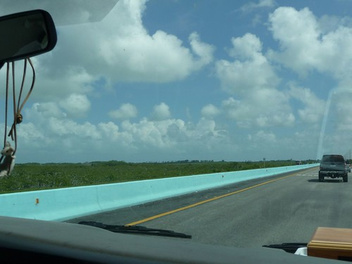 florida keys green lane divider.