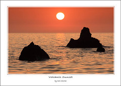 Volcanic Sunset (carlshorter.com) Tags: sunset seascape rocks north devon westwardho volcanicsunset cornborough