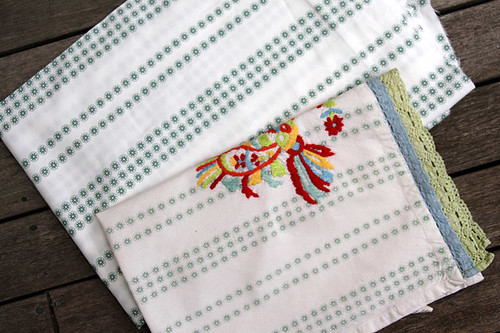 Spotlight fabric and Anthropologie teatowel