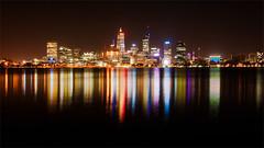 Electric Perth (Mark Solly (F-StopNinja)) Tags: perth longexposurewaterreflectionskylinecitylightsriverwesternaustralianightshotnightcolorscoloursrippleskyscraperskyscrapers