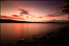 The Passage of Time (markrellison) Tags: uk longexposure sunset england sky water clouds rocks time lakedistrict cumbria lakewindermere windermere ndfilter nd1000