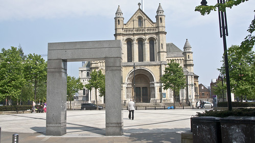 Public Art In Front Of Belfast Cathedral / St Anne's Cathedral