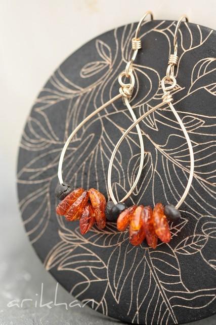 Amber earring