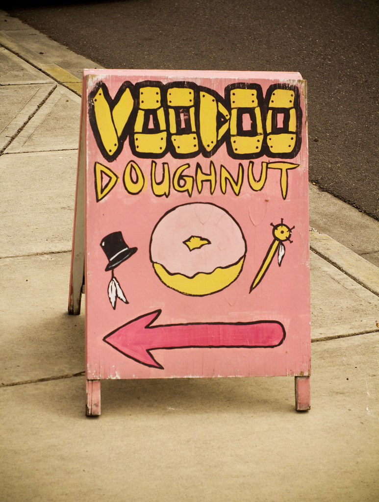 Voo doo sidewalk Sign