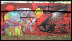 By BOM.K, JAW (DMV) (Thias (-)) Tags: terrain streetart paris wall painting graffiti mural jaw spray urbanart painter graff aerosol dmv bombing 91 spraycanart pgc thias bomk photograff frenchgraff supremassy photograffcollectif