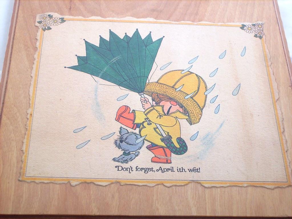 Boy in the Rain Wall Plaque