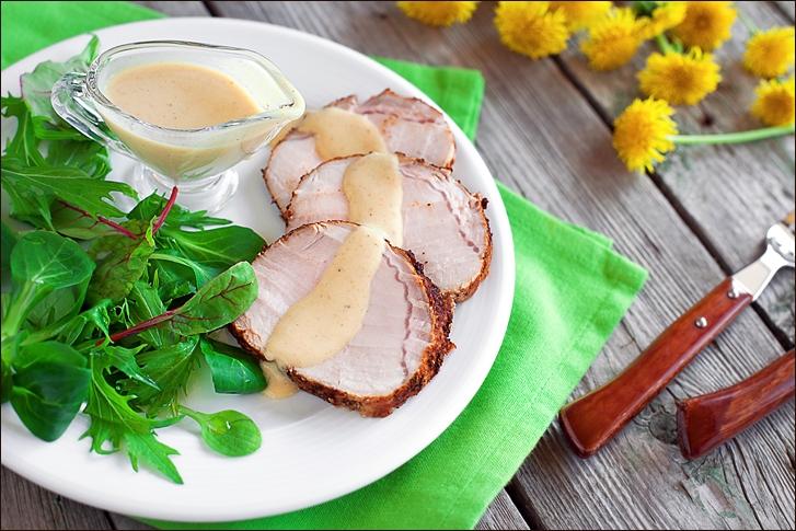 Pork Roast with Spiced & Apple curry sauce
