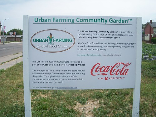 Illustrating the character of community gardening in one of Detroit's most devastated neighborhoods on Linwood at Gladstone. Coca-Cola is sponsoring this project but the billion dollar firm creates no jobs for the people. (Photo: Abayomi Azikiwe) by Pan-African News Wire File Photos