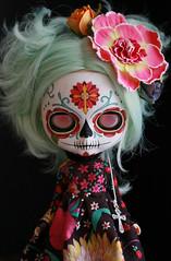 Candy Calavera (Kittytoes) Tags: dayofthedead skull doll sugar diadelosmuertos blythe calavera commissions melancholykitties