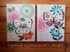 quadro borboletas colorido (Imer atelie) Tags: borboletas colorido quadros telas painel pintura feitoamão decoração casa home decorativo sala uberaba