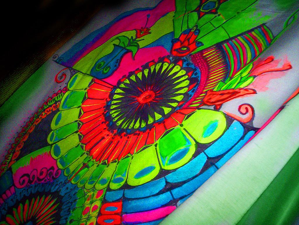 Pintura Fluor/Fluorescente   Pintura para genero, stencil ...