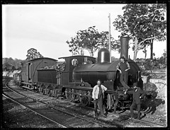 Seaham Coal Company's Locomotive Number 1 'Maori', West Wallsend Colliery siding, West Wallsend, NSW, 28 March 1898 (Cultural Collections, University of Newcastle) Tags: train engine rail railway australia nsw locomotive maori lakemacquarie 1898 westwallsend ralphsnowball snowballcollection ralphsnowballcollection westwallsendcolliery seahamcoalcompany asgn0818b37 newcastleregionnswhistorypictorialworks photographynewsouthwalesnewcastle railroadsnewsouthwalestrains
